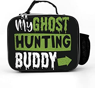 Lunch Bag With Ghost Hunting My Ghost Hunting Buddy Nurses Lunchbox|Durable Thermal Lunch Cooler Pack With Strap For Boys Men Women Girls