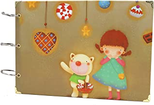 omyzam Album Hand Scrapbook DIY Album Photo The Children's Creative Gift Book Cover size: 18.5X27cm 30 pages 1PCS