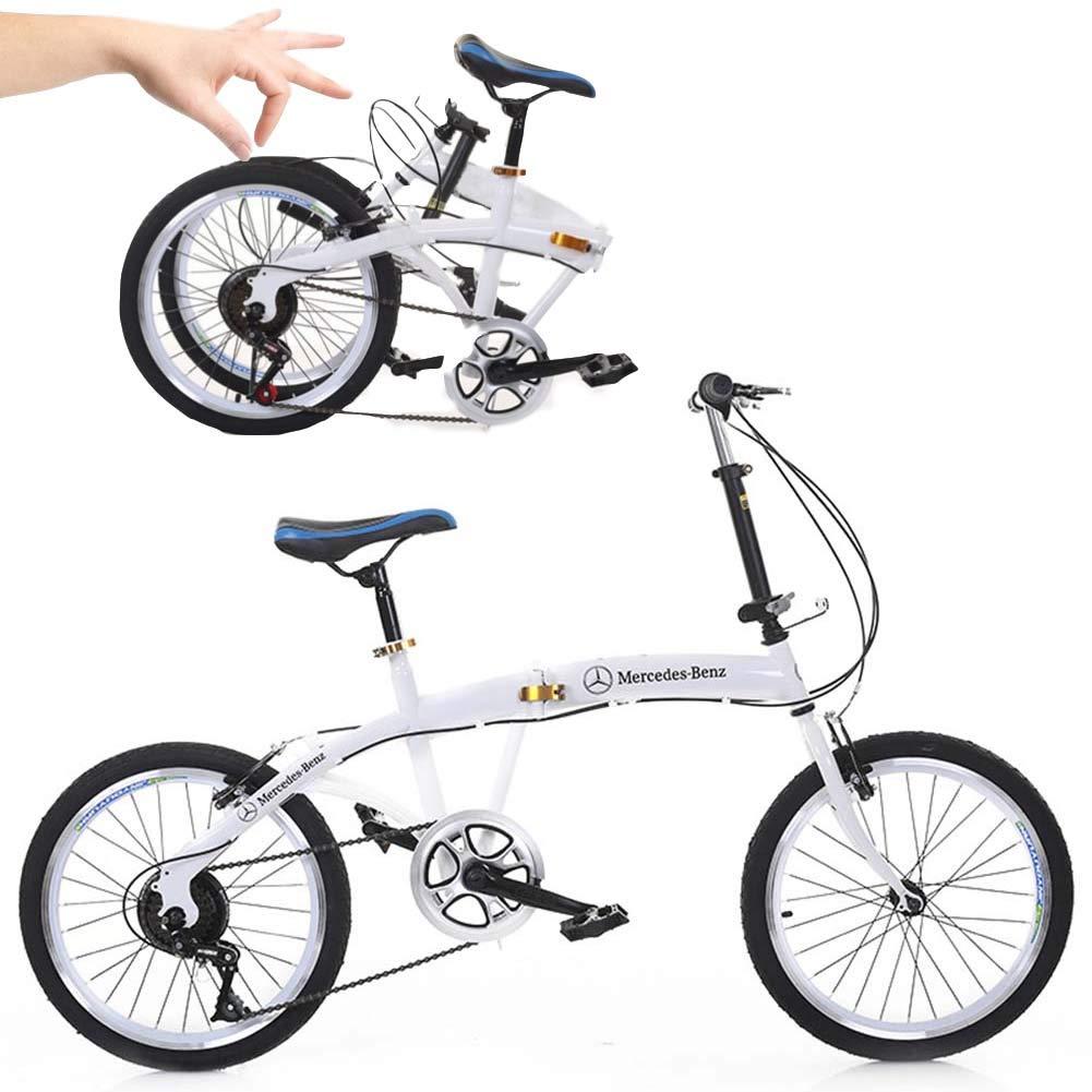 Grimk Urbana Bicicleta Plegable Ciudad Unisex Adulto Aluminio Bici City Adulto Hombre,Capacidad 90kg Manillar Y Sillin Confort Ajustables,6 Velocidad: Amazon.es: Deportes y aire libre
