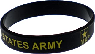 Eagle Crest United States Army Star Silicone Rubber Wristband [Pre-Pack]