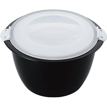 曙産業 炊飯器 2合 日本製 お米と水を入れて電子レンジで加熱するだけ ふっくらごはんが手軽に炊ける レンジごはん炊き BL-796