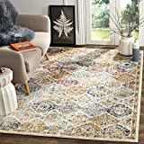 Safavieh Madison Collection MAD611B Bohemian Chic Vintage Distressed Area Rug, 3' x 5', Cream/Multi