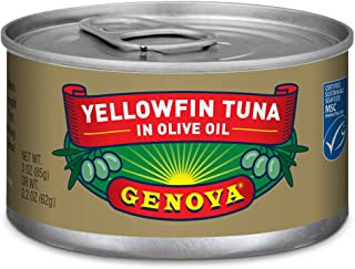 Genova Solid Light Yellowfin Tuna In Olive Oil, 3 Ounce Tins (Pack of 24)