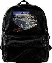 WUHONZS Canvas Backpack Bob Falfa's 55 Chevy American Graffiti Hot Rod Rucksack Gym Hiking Laptop Shoulder Bag Daypack for Men Women