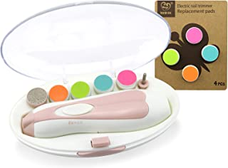 haakaa Baby Nail Trimmer Combo - Safe Electric Baby Nail Clipper | Whisper Quiet Nail File Kit for Newborn | Infant Toddle...