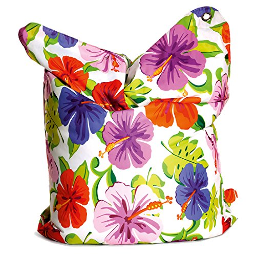 Sitting Bull - 633011 - Fashion Bull XXL Indoor Sitzsack, 190x130cm in Paradise Flower