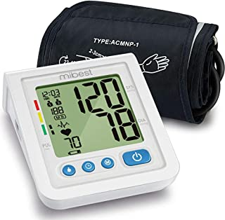 """MIBEST Portable Blood Pressure Monitor - BP Cuff Meter with Display - Standard Size Blood Pressure Machine 8.7-12.6"""" - Blood Pressure Tester with Carrying Bag - Blood Pressure Gauge with Memory"""