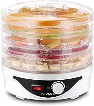 DEVANTI 5 Trays Food Dehydrator Jerky Dryer Fruit Maker White