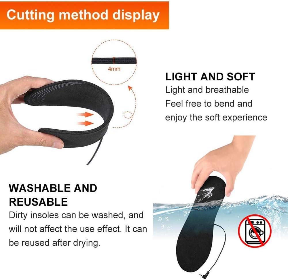 YYchan Semelles chauffantes USB Electrique Semelle chauffante Semelle Thermique Chauffe Pied,Taille Peut /être coup/é et Lavable