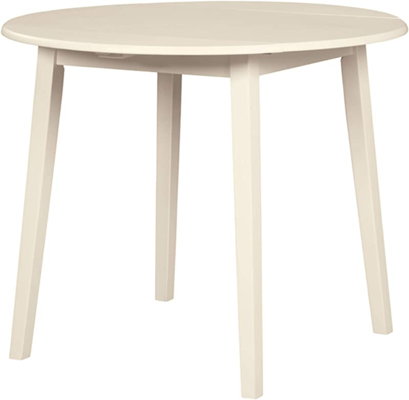 Signature Design By Ashley D318 15 Slannery Dining Room Table White