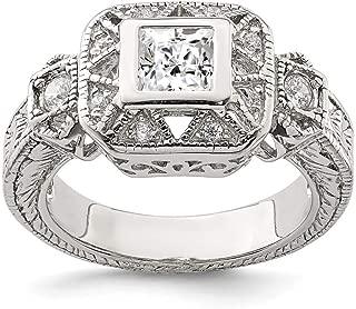 Best cubic zirconia antique engagement rings Reviews
