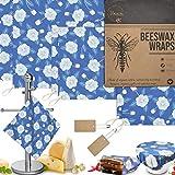 Envolturas de cera de abeja reutilizables, sin residuos, paquete de 6 envoltorios de queso ecológicos, sin plástico