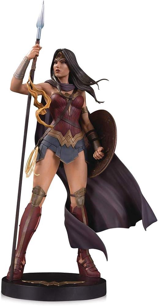 Dc comics wonder woman statuette da collezione