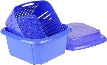Hutzler 374BL 3-in-1 Berry Box, 2 Pint, Blue