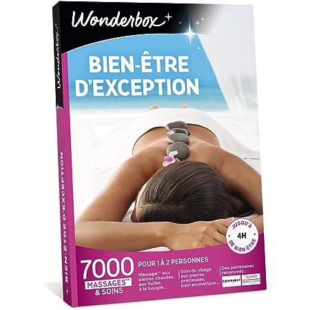 Wonderbox – Coffret cadeau femme - BIEN ETRE D'EXCEPTION – 7000 soins dont rituel polynésien au monoï, massage à la bougie, soins du visage, bain aromatique pour 1 à deux personnes , multicolore