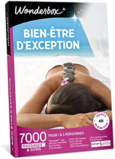 Wonderbox – Coffret cadeau femme - BIEN ETRE D'EXCEPTION – 7000 soins dont rituel polynésien au monoï, massage à la bougi...