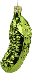 Kurt S. Adler 3-Inch Hand Blown Glass Pickle Ornament, Multi