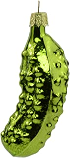 Kurt Adler Hand Blow Glass Pickle Christmas Ornament