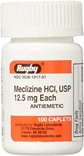 Rugby Meclizine Hcl 12.5 mg 100 Cplts