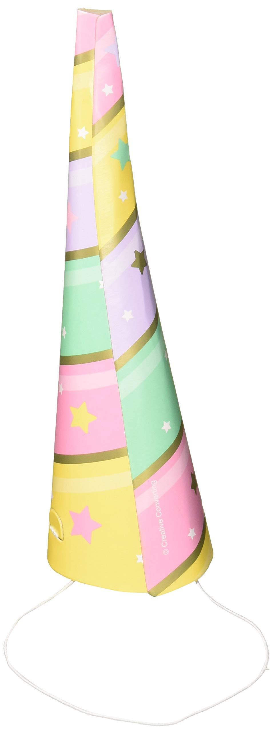 8 Unicorn Horn Card Party Hats Unicorn Sparkle Parties