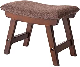 Yxsdd Fabric Stool Fashion Creative Shoes Bench Stool Home Living Room Simple Stool Solid Wood Sofa Stool,with Cushion,4 W...