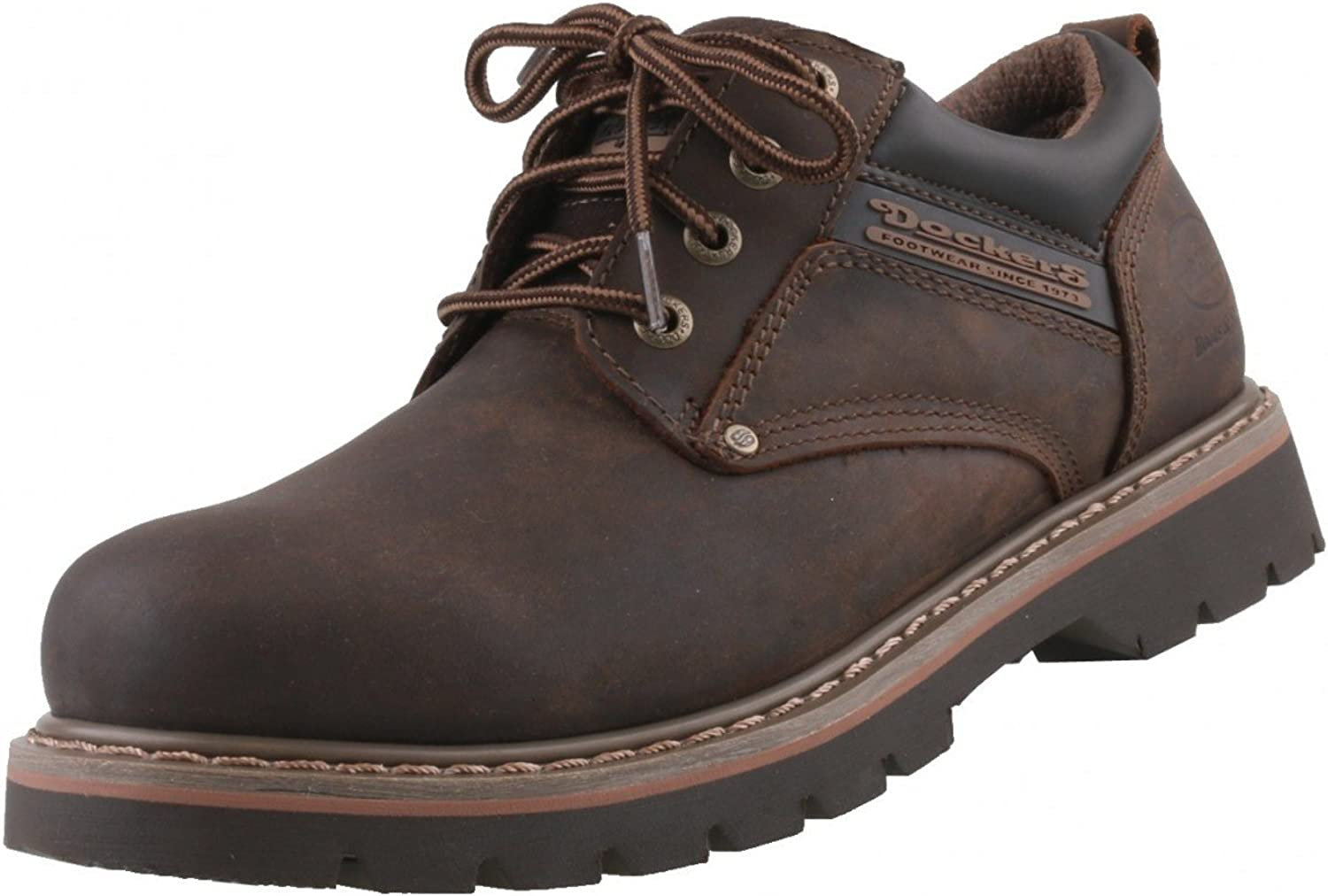 Dockers by Gerli Men's Lace-Up Flats, brown - brown oscuro, 9 UK