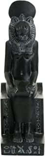 Culture Spot Egyptian Goddess Sekhmet Statue Seated on Throne with Stone Finish | Hieroglyphs | Indoor Placements | Show Pieces | Museum replica | 8 Inches