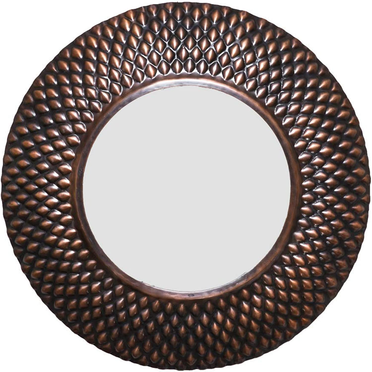 Pangolin Large 66cm Round Wall Mirror - Copper