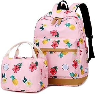 9ba3c9e09b Filles école Sac à Dos Femmes College Bookbag avec Sac à Lunch Sac Mignon Sac  à