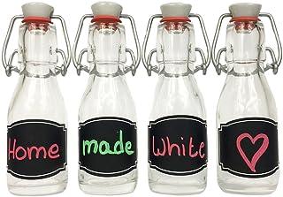 Bügelverschluss Glasflasche Most Saft Likör Essig Öl 15x Bügelflasche 200 ml