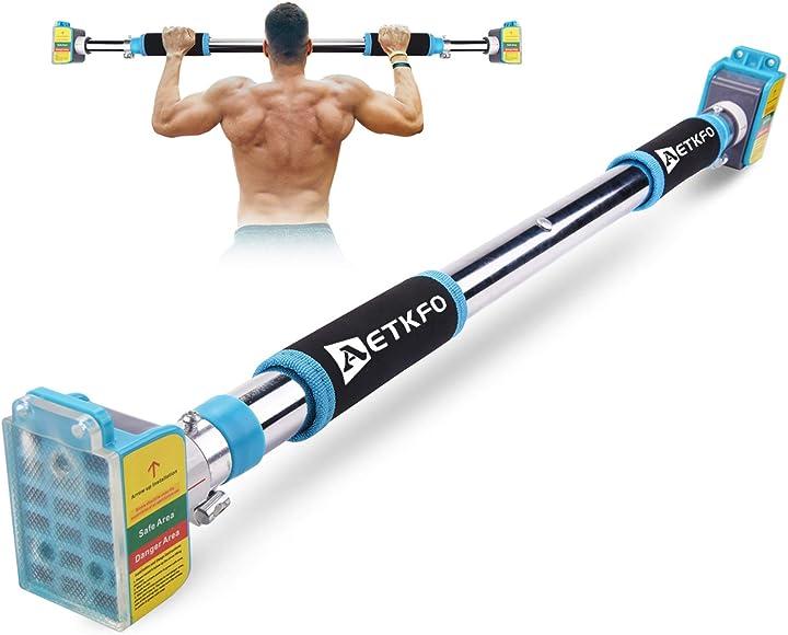 Barra per trazioni da porta senza viti, pull up bar allenamento del torace barra per sollevamento - aetkfo B086P936WS