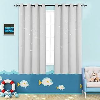 Nursery Blackout Curtains Kids Room Darkening Window...