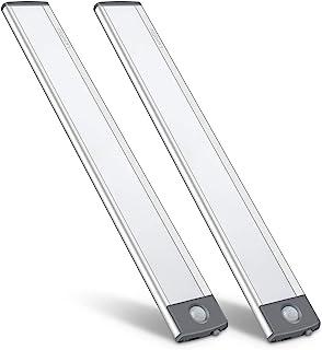 LED Motion Sensor Cabinet Light,Under Counter Closet Lighting, Wireless USB Rechargeable Kitchen Night Lights,Battery Powe...