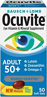 Bausch & Lomb Ocuvite Adult 50+ Eye Vitamin and Mineral Supplement