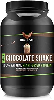 High Level Natural Vegan Protein Powder | Chocolate Shake Plant Protein | 25g Protein | 2 lb, Pea Protein Isolate, Brown R...
