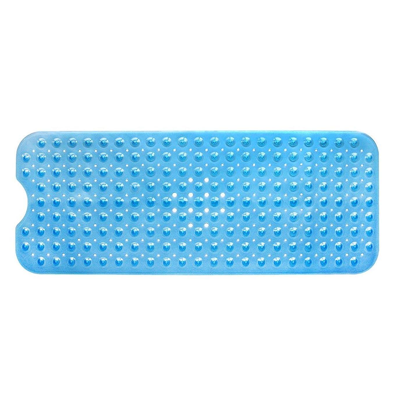 示す食事を調理するフィードオンSwiftgood エクストラロングバスタブマットカビ抵抗性滑り止めバスマット洗濯機用浴室用洗えるPVCシャワーマット15.7