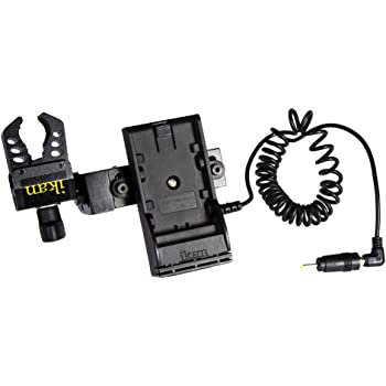 Ikan BMPCC-PWR-2RD-C Blackmagic Pocket Cinema Camera Dual Rod DV Power Kit for Canon 900 Black