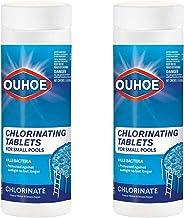 LULE 200 tabletas de cloro para piscina, desinfectante multifunción, estabilizador, clarificador para bañera de hidromasaje, spa, piscina, cocinas, inodoros, desinfección rápida y limpieza