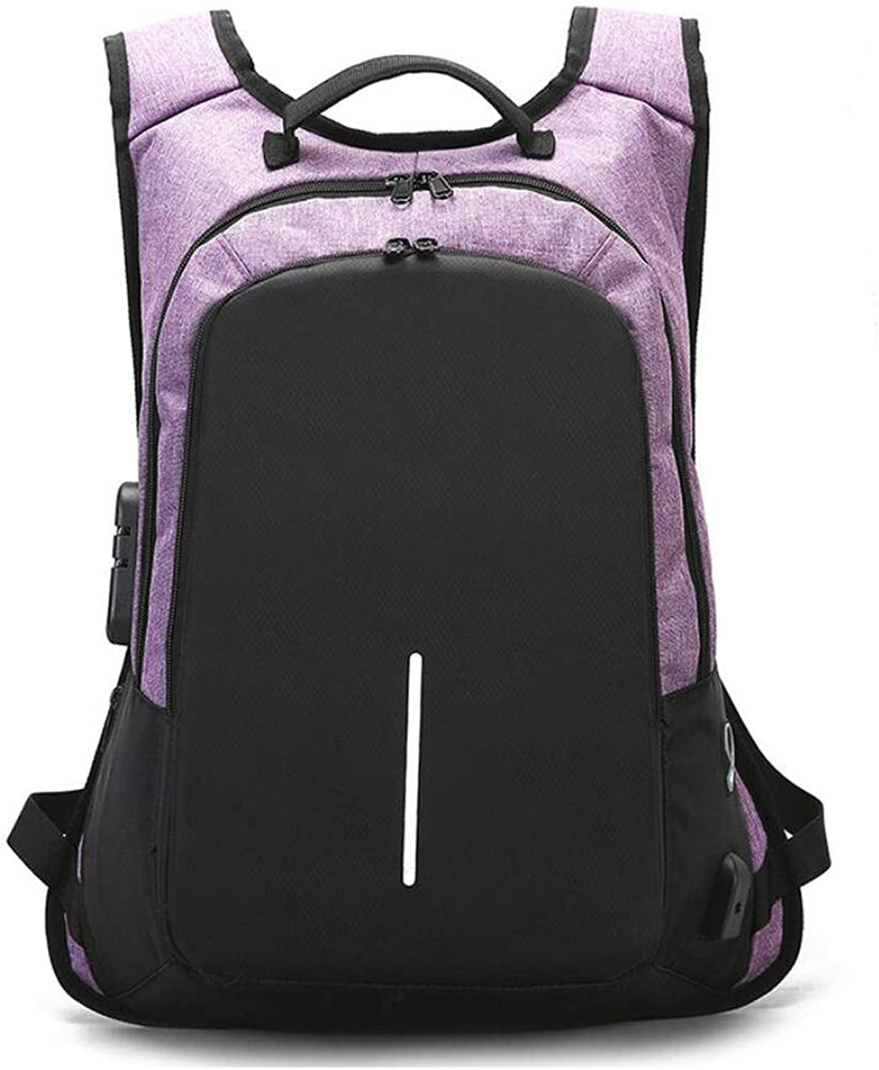 Business Backpack Men's School Bag Student Female Backpack Travel Men's Large Capacity Computer Backpack (Farbe   lila)