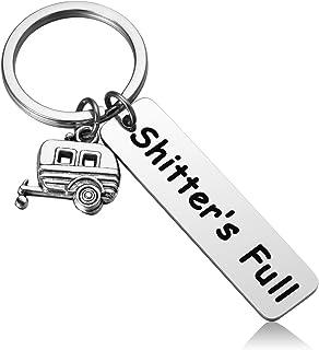 MIXJOY Shitter's Full Camper Keychain Redneck Keychain Hillbilly Keychain RV Keychain