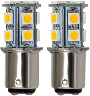 Grv Ba15d 1142 1076 1176 High Bright Car LED Bulb 13-5050SMD AC/DC12V 24V 28V Warm White Pack of 2