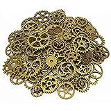 LolliBeads - Set di ingranaggi di orologi, in metallo anticato, stile steampunk, Peltro, Bronze-80pcs, Gear50Pcs