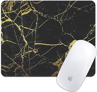 マウスパッドおしゃれスリップ防止ブラックゴールド大理石パターンマウスパッドおしゃれスリップ防止ステッチエッジ滑り止めラバーゲームマウスパッドおしゃれスリップ防止マウスパッドおしゃれスリップ防止コンピューター用ラップトップ