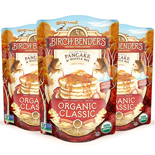 Birch Benders Organic Pancake and Waffle Mix Whole Grain Classic 48 oz Pack of 3