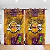 JINfjapafg Curtain Los Angeles Basketball La-KERS Blackout Curtains, Stylish Bedroom Curtains, All-Season Insulated Room Blackout Curtains/Curtains (Wearing Rod Type) 52inch x 72inch