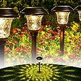 GIGALUMI 8 Pack Solar Pathway Lights, Solar Garden Lights...