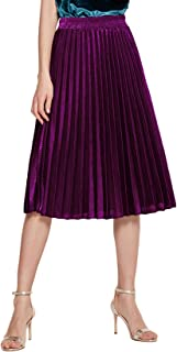 Best purple pleated skirts Reviews