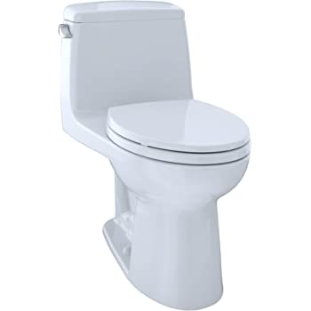 TOTO MS854114S#01 Ultramax Elongated One Piece Toilet, Cotton White