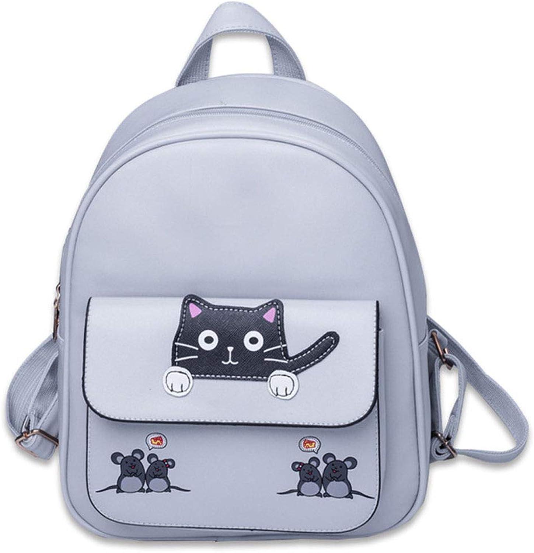 16b6a12a0 Backpack Women's Pu Leather Mini Backpack Casual Waterproof Travel ...