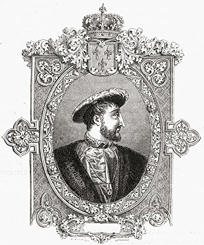 Pôster Francis I Aka Francisdangoul me 1494-1547 Rei da França The First of Five Monarchs of The Angoul me Ramch of The H 44; 33 x 40 cm